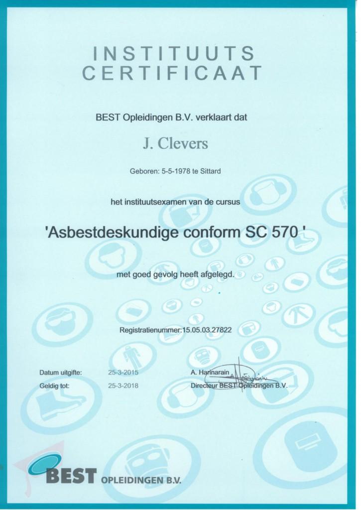 Asbestdeskundige J. Clevers